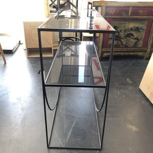 Sideboards/Consoles Black Glasstop Console