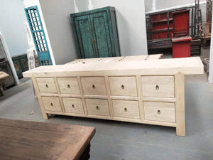 Sideboards/Consoles Natural Wood Sideboard with 10 Drawers - Sino Collection