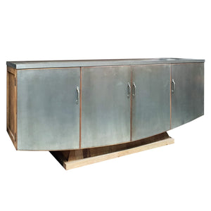 Sideboards/Consoles Roya Sideboard - Metal finish (Store Model) Metal and Wood Buffet Island with Cabinet Doors Unique Furniture Chch