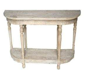 Tables Large Elm Wood Console
