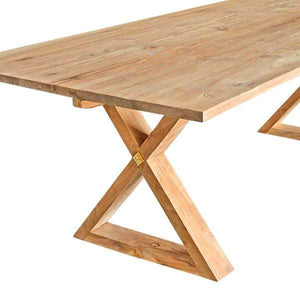 Tables Solid Teak Dining Table - 2.2m - The Bordeaux Collection