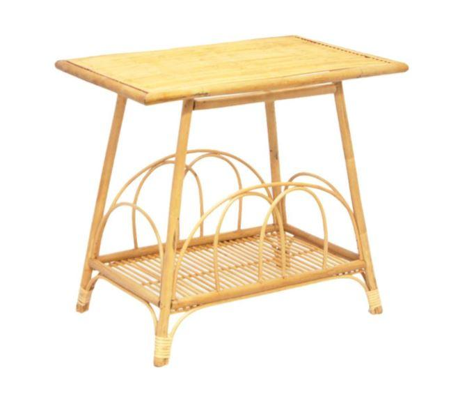 Tables Vina Bamboo Side Table - Natural Bamboo