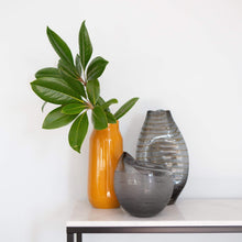 Load image into Gallery viewer, Vases Cascade Vase Grey/Amber
