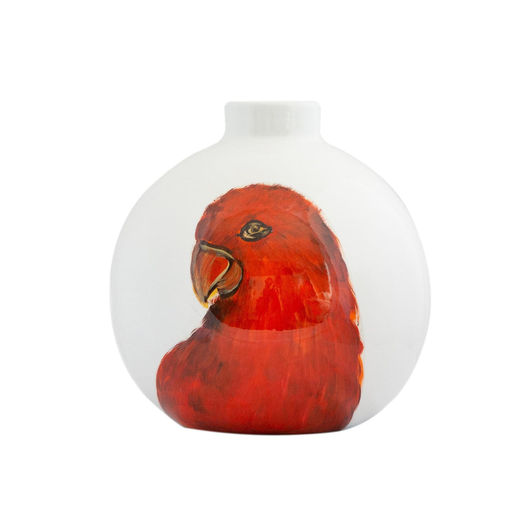 Vases Macaw Vase White/Red