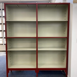Red XL Bookcase Extra Large Bookcase