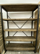 Load image into Gallery viewer, XL Bookcase - Recycled Fir Wood & Metal