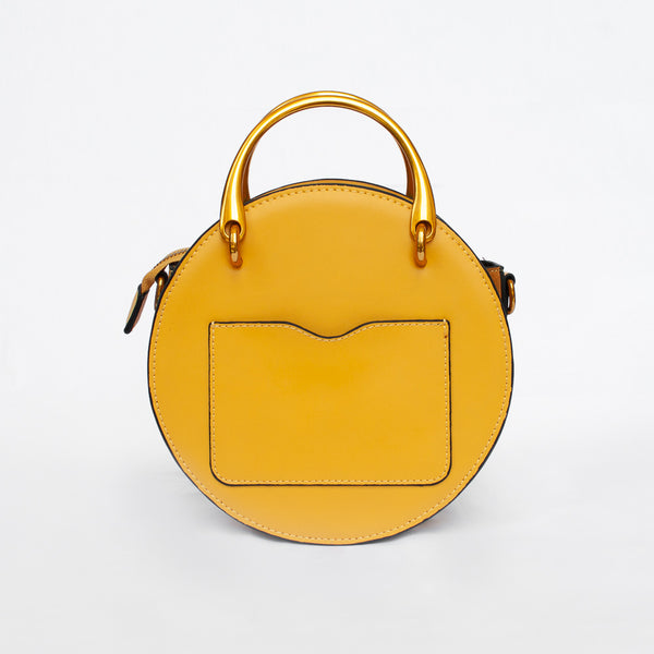 Georgia in Sunshine - Mustard and yellow leather bag