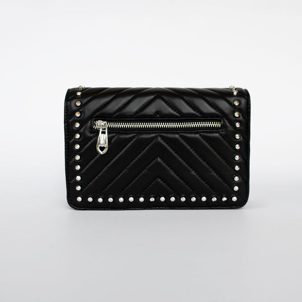 Femme - Black leather clutch bag