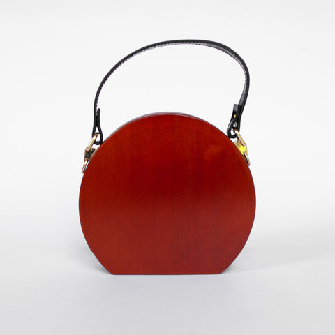 Leila - Round Wooden Bag