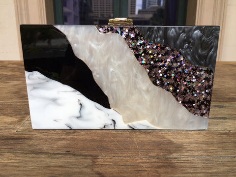 Stardust - marbled magic clutch