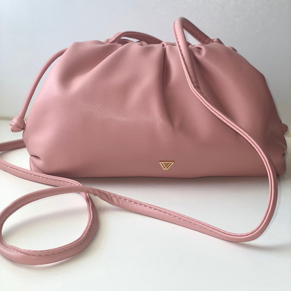 Pascal - pastel pink pouch bag