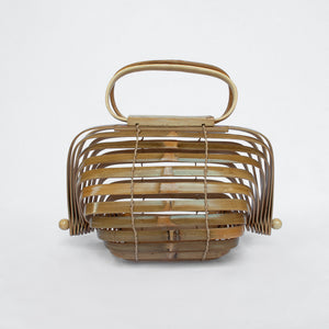 Bambi in Natural - Bamboo folding cage bag
