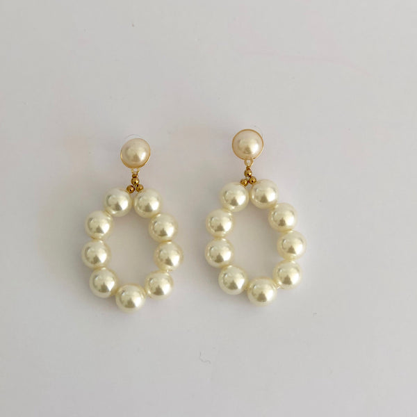 Leia - Pearl drop earrings