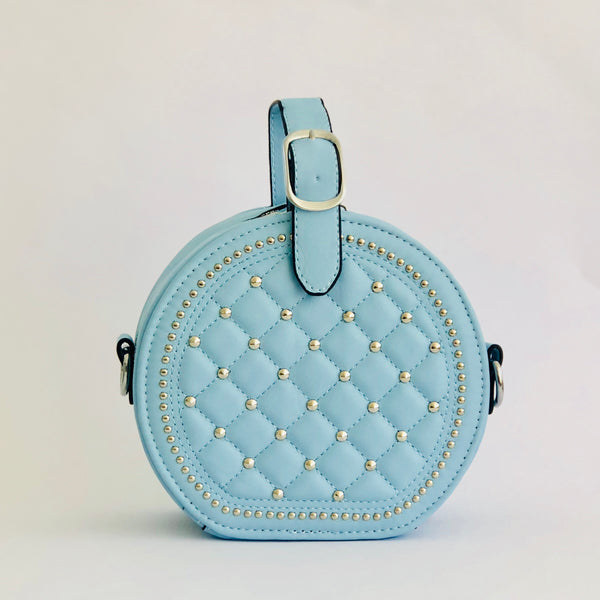 Quilpie in Blue  - Quilted top handle bag