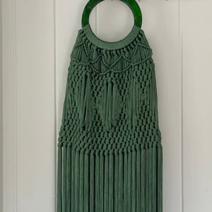 Gypsy  - Green tassel bag