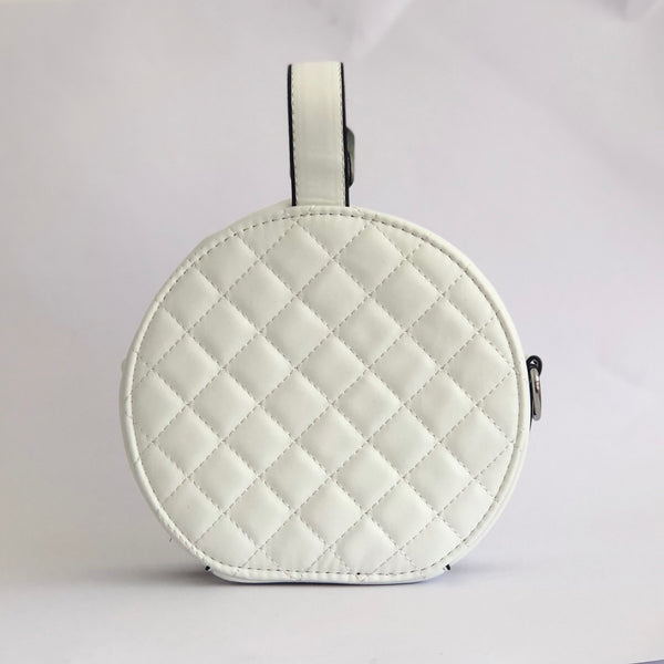 Quilpie in White - Quilted top handle bag
