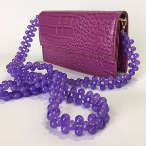 Penny in Purple - Beaded  strap clutch