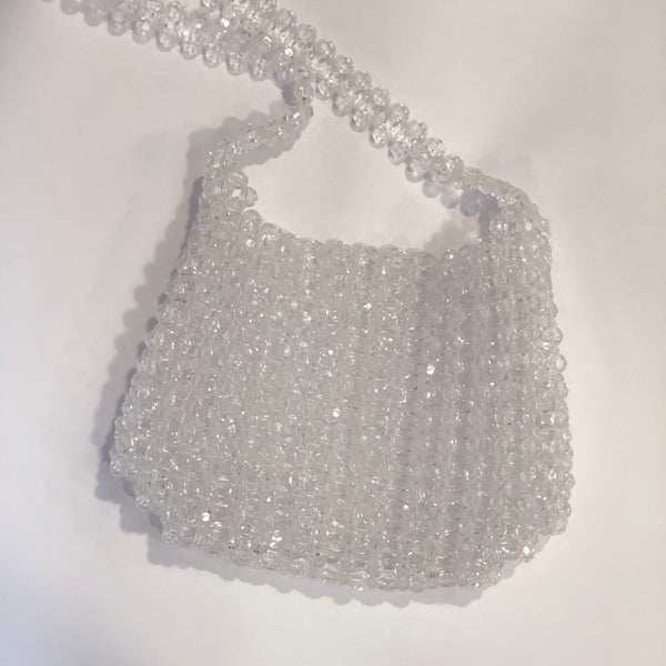 Bling it up - Beaded bag in clear