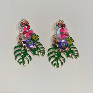Tropical Delight - Statement drop earrings