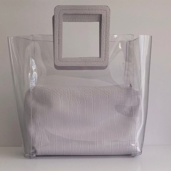 Clair in White - Clear holdall bag