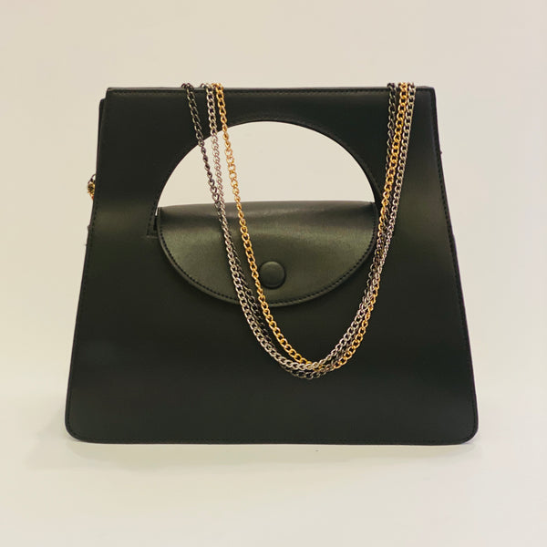 Prudence in Black - Top handle bag