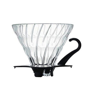 peak-coffee-australia - Hario V60 Glass Dripper 02 - Black