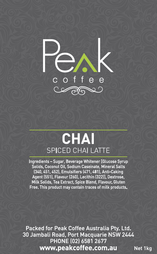 peak-coffee-australia - Peak Spiced Chai Latte - 1kg
