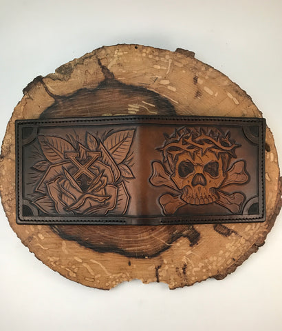 Custom Tooled Billfold, Deposit