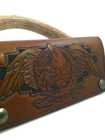 Custom Tooled Long Wallet, Deposit