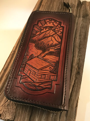 Custom Zip-Around Wallet Deposit