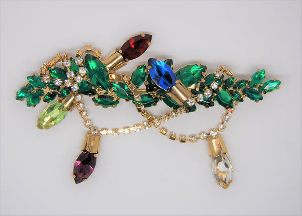 Stockings Vintage Christmas AMAZING Bauer Brooch Fireplace Necklace Candle