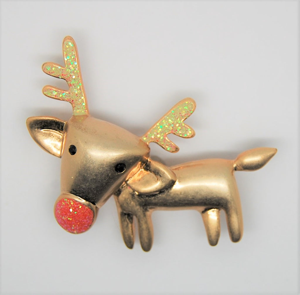 Lia Sophia Reindeer Rudolph Puppy Christmas Holiday Brooch