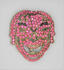 AJ Bacchus Theatrical Mask Shoe Dress Clip Vintage Figural Pin Brooch