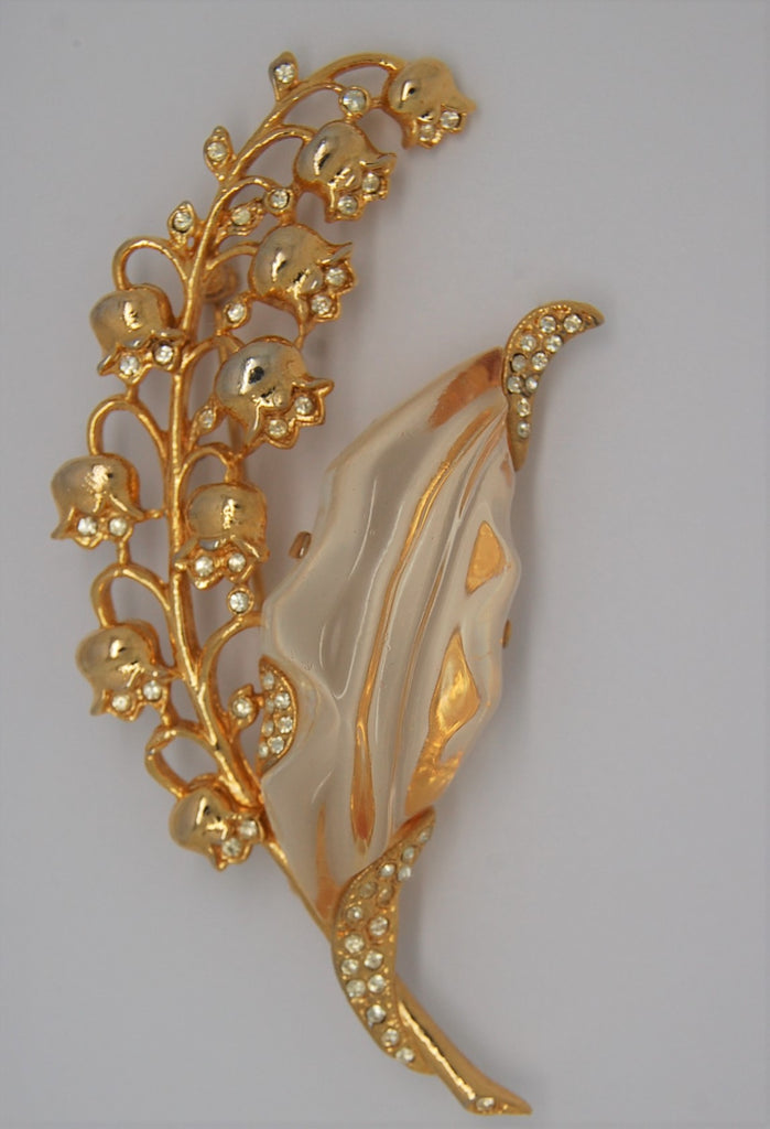 Trifari Jelly Belly Lily of the Valley Vintage  Figural Pin Brooch - RESTRIKE
