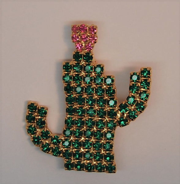 Bauer Cactus Christmas Flower Figural Brooch - 1980s