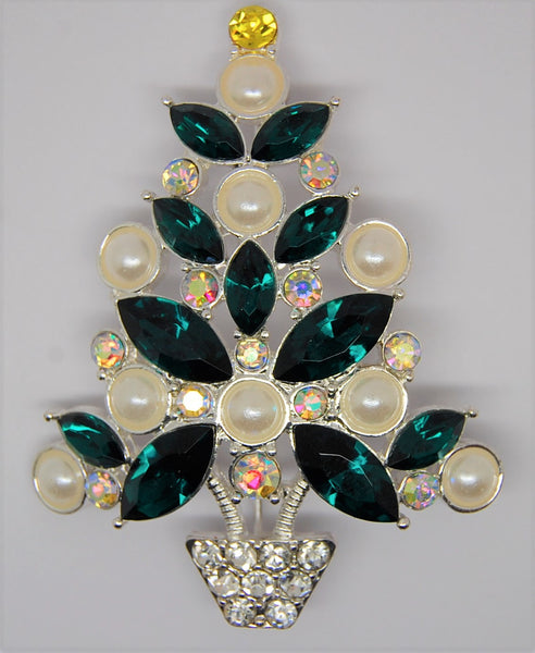 Avon Christmas Tree 2011 Edition Holiday Brooch - Mint
