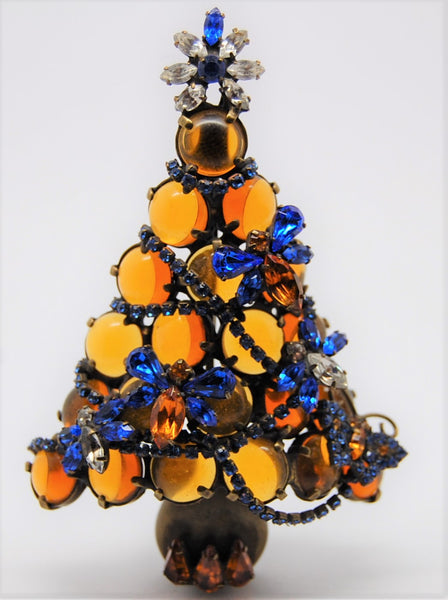 Bauer Christmas Tree Bee or Not To Bee Holiday Figural Brooch - RARE
