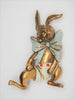 Fred Block Jewelry Fabulous Rabbit in Shorts Fur Clip Vintage Figural Brooch