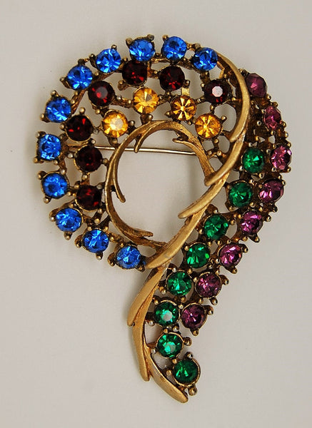 Abstract Question Mark Vintage Figural Brooch - Mink Road Vintage Jewelry