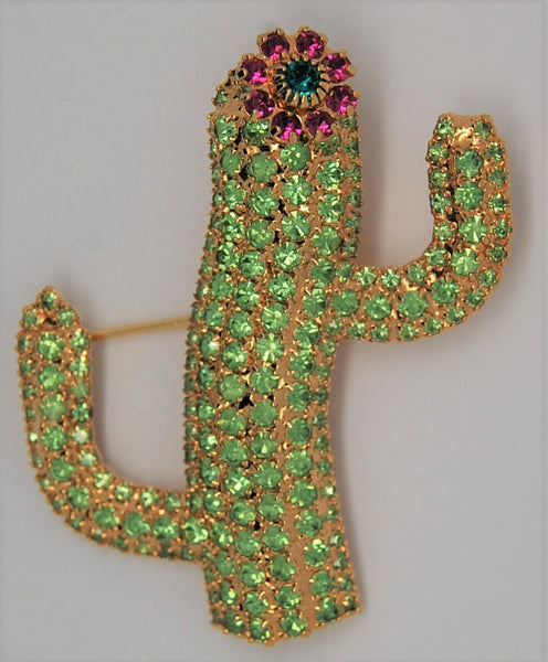 Bauer Blooming Cactus Figural Brooch - 1980