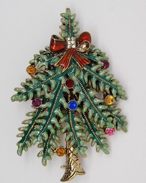 Avon Christmas Tree 2004 1st Annual Edition Pin Brooch - Mint