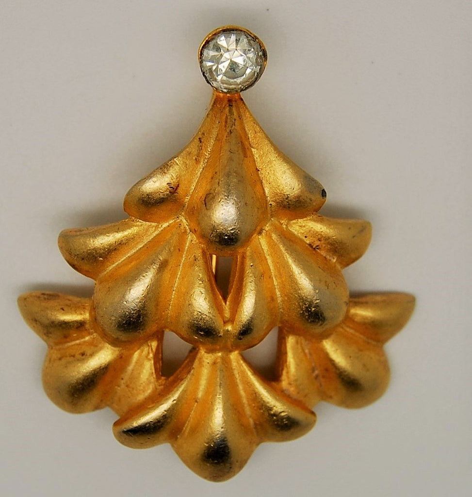 Yosca Christmas Tree Abstract Figural Brooch - Mink Road Vintage Jewelry