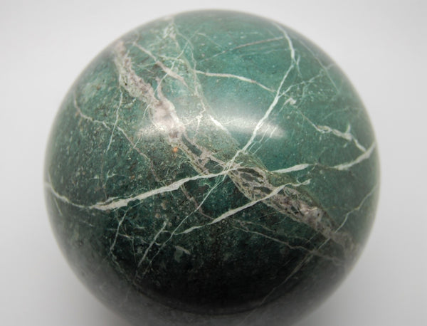 Sphere - Nephrite Jade & Crystal Pacific Northwest - 4 Inches