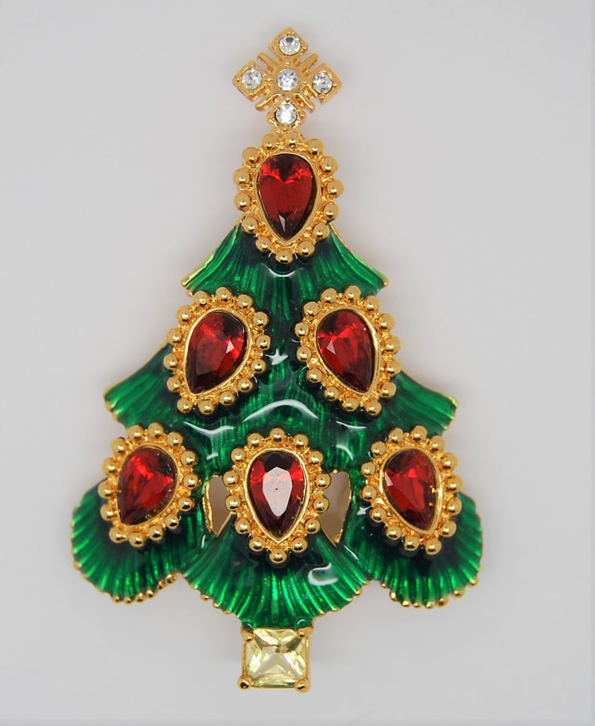 Monet Christmas Tree Figural Brooch 1990 - Mint