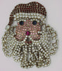 Kirks Folly Santa Kris Krinkle Rhinestone Limited Edition Holiday Brooch