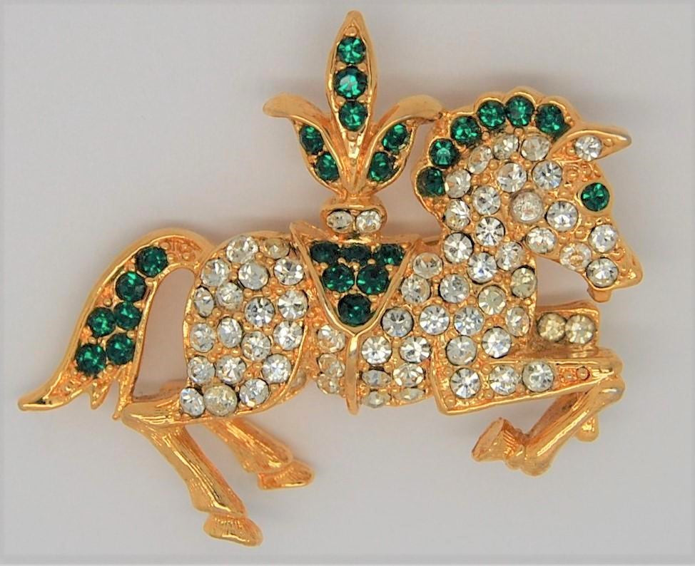 Napier Circus Horse Book Piece Vintage Figural Brooch - Mint
