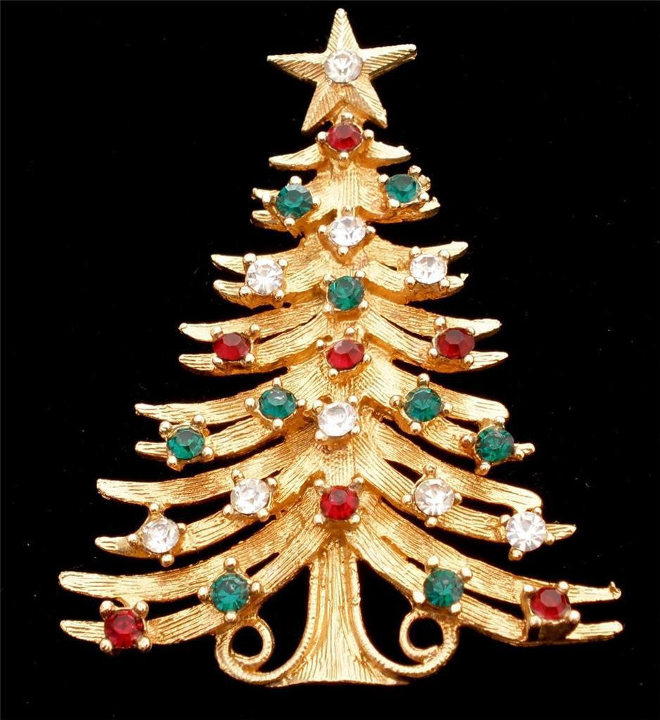 Tancer II Christmas Tree Pin Brooch - Mink Road Vintage Jewelry