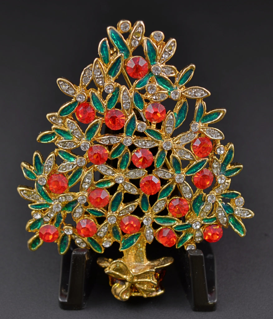 Sphinx Ultra Rare Christmas Tree Pin - Mink Road Vintage Jewelry