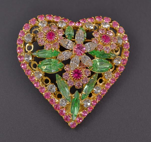 Bauer Valentine Heart Figural Pin Brooch - Mink Road Vintage Jewelry