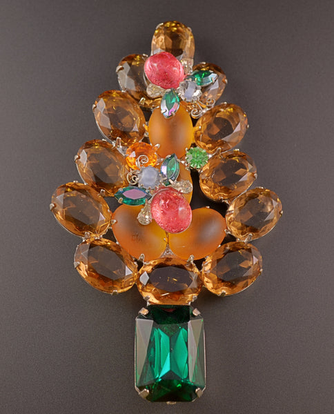 Gale & Friends Busy Bee Christmas Tree Pin Brooch - Mink Road Vintage Jewelry